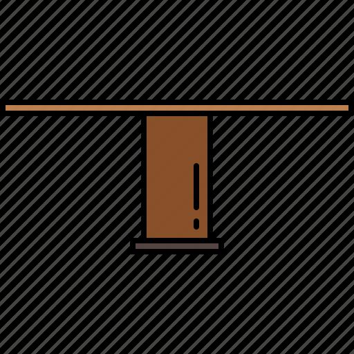furniture, legged, single, table, wooden icon
