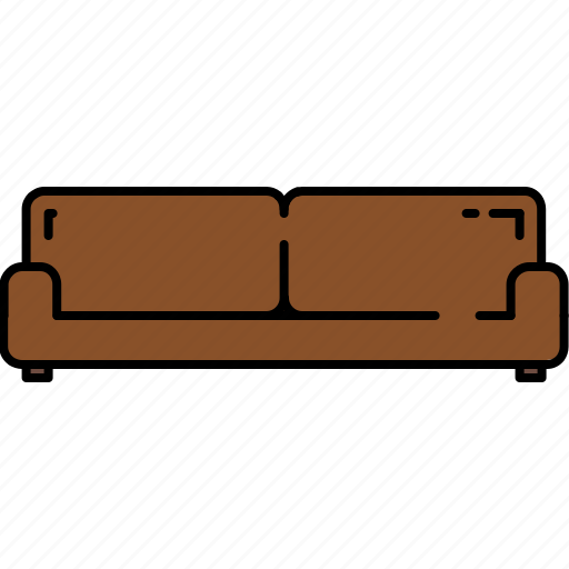 couch, fabric, furniture, leather, wide, wooden icon