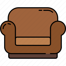 armchair, fabric, furniture, leather, livingroom icon