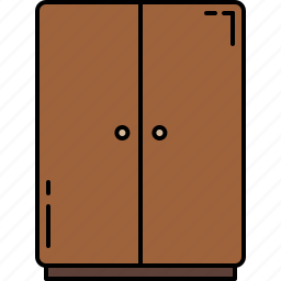 bedroom, closet, furniture, wooden icon