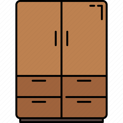 closet, doors, drawers, furniture, wooden icon