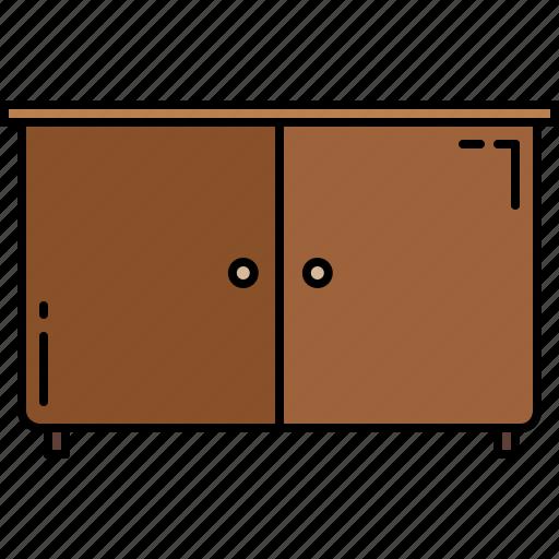 cupboard, doors, furniture, wooden icon