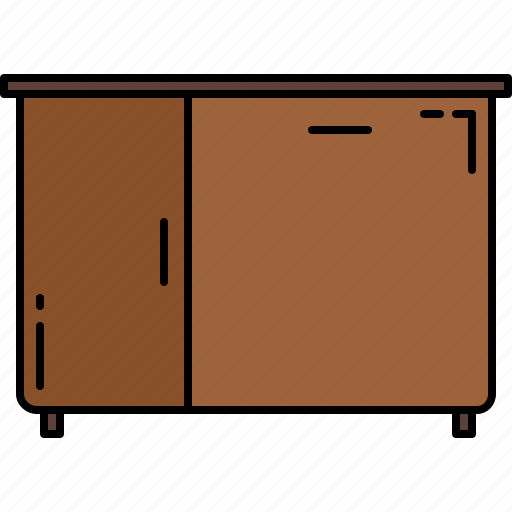 cupboard, furniture, sink, wooden icon