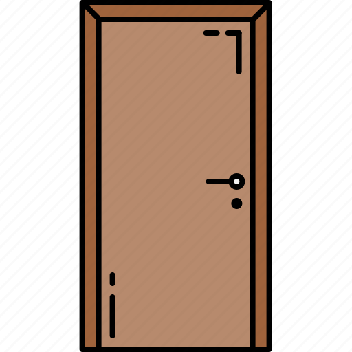 basic, door, furniture, wooden icon
