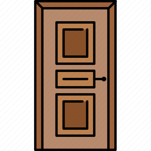 door, furniture, padded, wooden icon