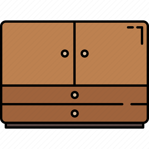 doors, drawers, furniture, wooden icon