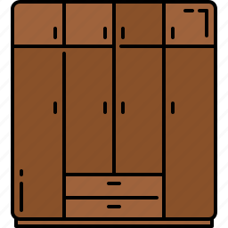 closet, doors, furniture, large, wooden icon