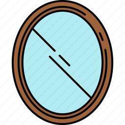 frame, furniture, mirror, wooden icon