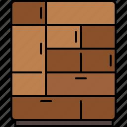 bedroom, closet, furniture, multi, wooden icon