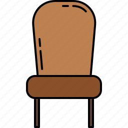 chair, diningroom, fabric, furniture, paded, wooden icon