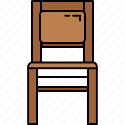 chair, fabric, furniture, paded, wooden icon