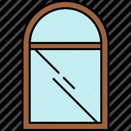 frame, furniture, glass, round, window icon