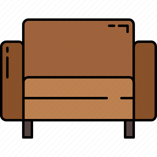 chair, fabric, furniture, leather, square icon