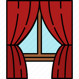 curtains, frame, furniture, glass, window, wooden icon