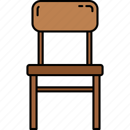chair, diningroom, furniture, wooden icon