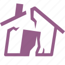 earthquake insurance, home insurance, house icon