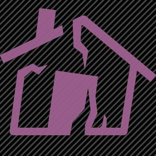 earthquake insurance, home insurance, house icon
