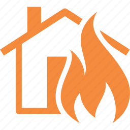 fire insurance, home insurance, house icon