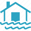 flood insurance, home insurance, house icon