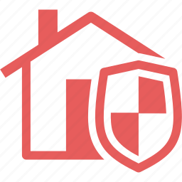 home insurance, home protection, safe, shield icon