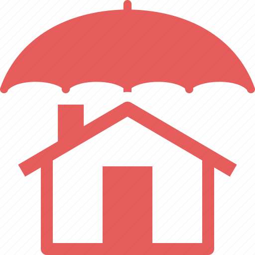 home insurance, home protection, house, umbrella icon