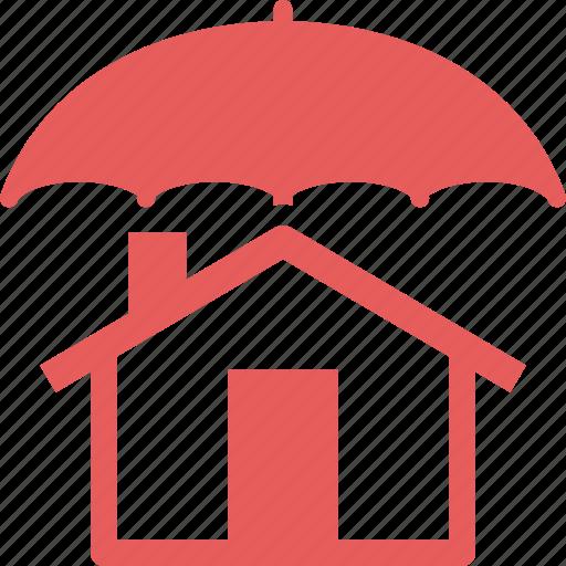 Home insurance, home protection, house, umbrella icon