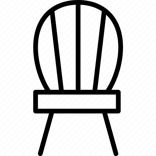 chair, decor, furniture, interior, seat, wood icon