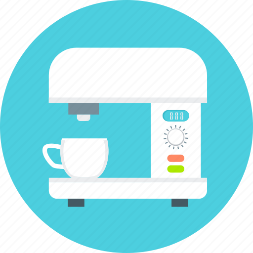 coffee, coffee machine, cup, drink, home appliances, kitchen, maker icon