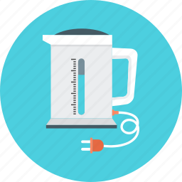 electric, equipment, home appliances, kettle, kitchen, plug, warm water icon