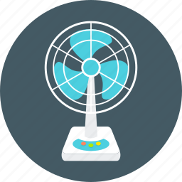 coldness, cooler, device, equipment, fan, office, table icon