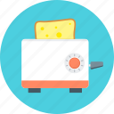 bread cooking, cook, equipment, food, kitchen, kitchen appliances, toaster icon