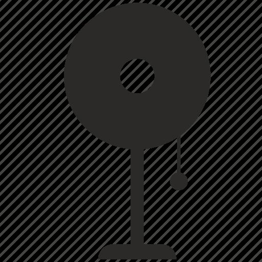 home, interior, lamp, lighting, round icon