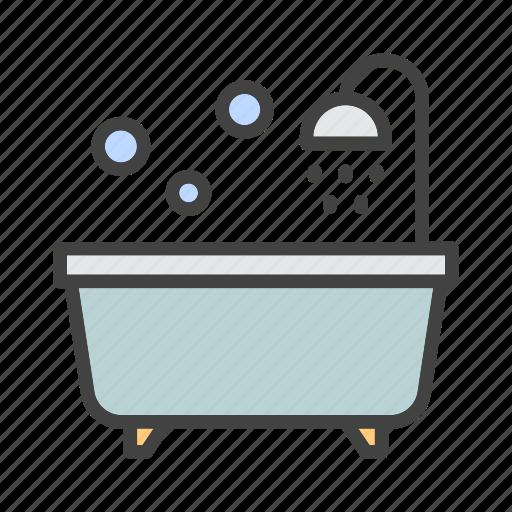 bathroom, bathtub, furniture, home, living icon