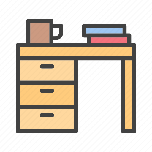 desk, furniture, home, living, office, property, work icon
