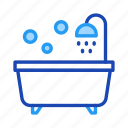 bathroom, bathtub, furniture, home, living, property icon