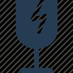 careful, fragile, glass, move icon