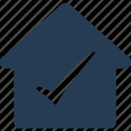 accept, check, complete, correct, home, mark, tick icon