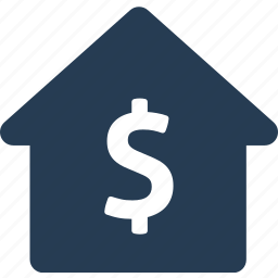 bank, dollar, finance, home, money, payment, sell icon