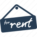 real estate, rent, sign, card, information, finance, business icon