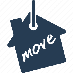 business, finance, home, house, label, move, tag icon