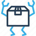 box, carton, delivery, ecommerce, finance, move, shipping icon
