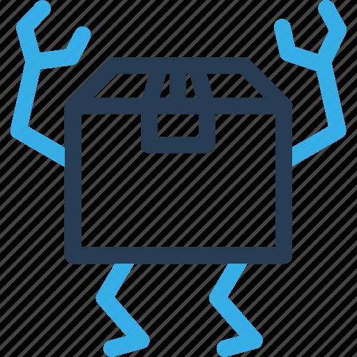 box, carton, delivery, ecommerce, finance, move, shipping icon