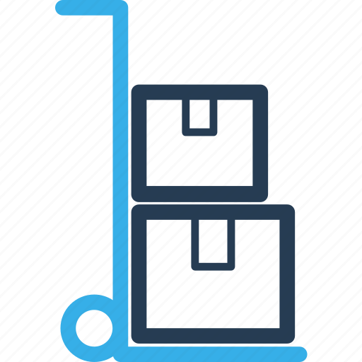 box, cart, delivery, move, shipping, stuff, trolley icon