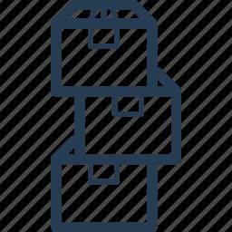 arrange, box, carton, delivery, move, shipping, stuff icon