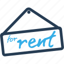 business, finance, home, real estate, rent, sign icon