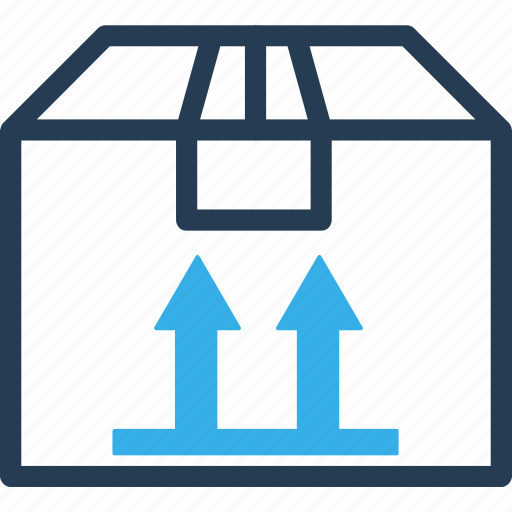 box, ecommerce, move, shipping, shopping, side, up icon