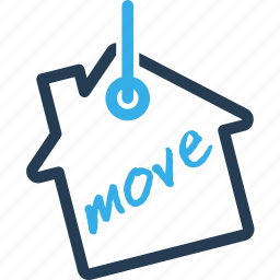 hang, home, house, move, real estate, shipping, tag icon