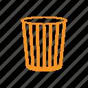 basket, bin, belongings, trash icon