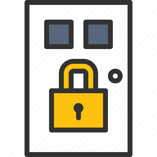anti, door, lock, protection, security, system, theft icon