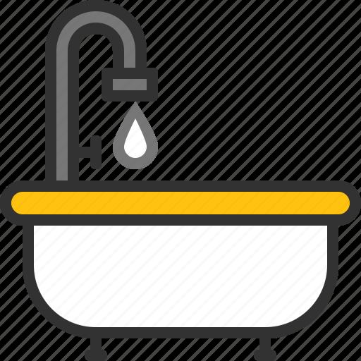 bath, bathtub, clean, drop, shower, water icon